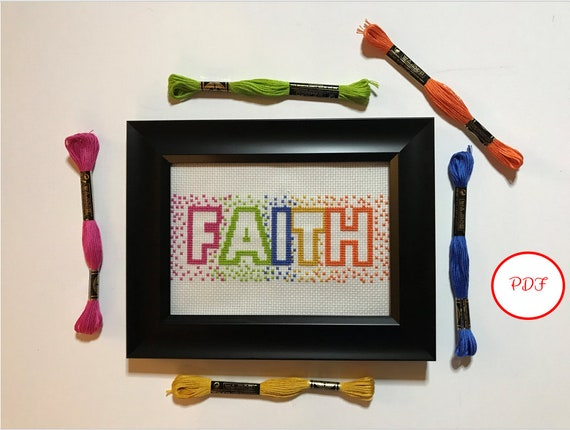 Faith Cross Stitch Pattern - PDF download