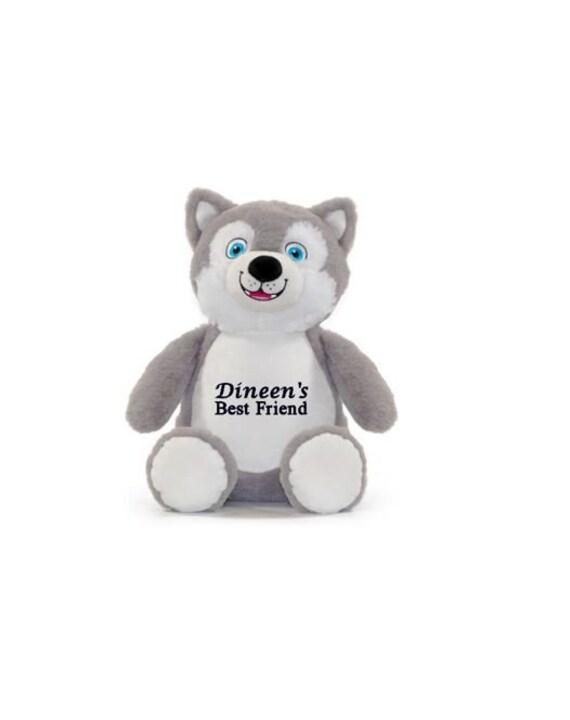 Personalized Stuffed Wolf