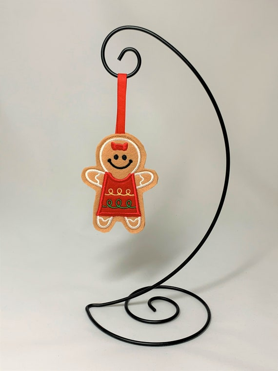 Embroidered Cookie Gingerbread Girl Ornament