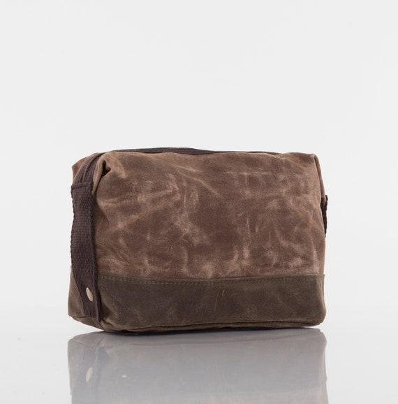 Khaki Personalized Two-Tone Large Travel Kit