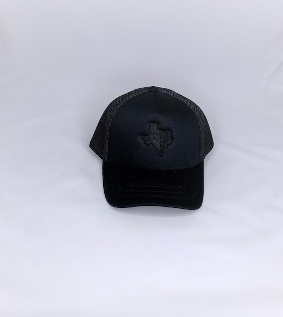 Black Texas (TX) Flag Trucker Cap