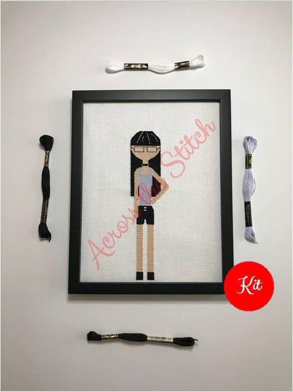 Girl Cross Stitch Kit - Jade