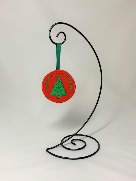 Embroidered Stamped Reindeer Ornament