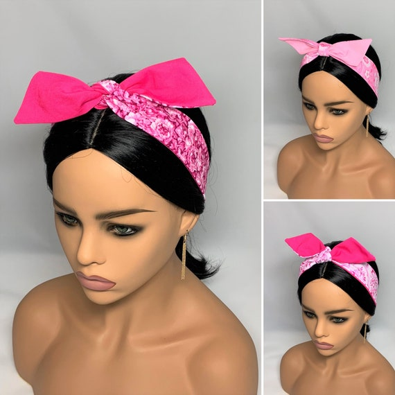 Pink Dolly Bow Headbands