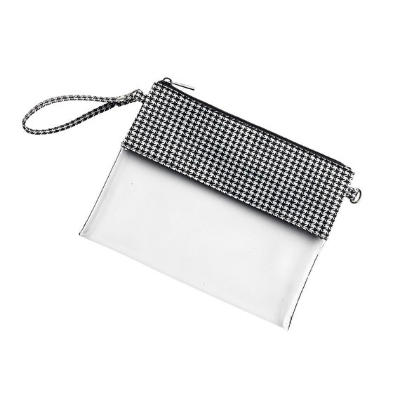Houndstooth Monogrammed Clear Purse