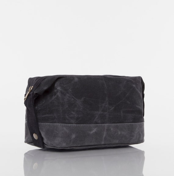 Black Personalized Two-Tone Large Travel Kit