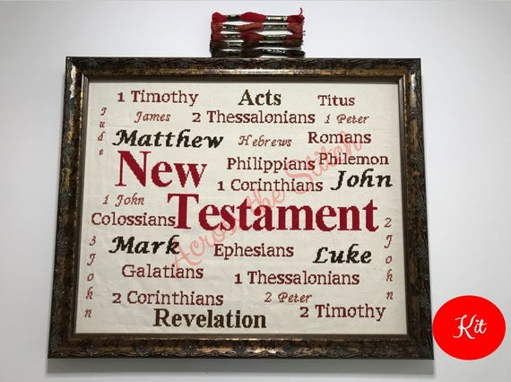 New Testament Cross Stitch Kit