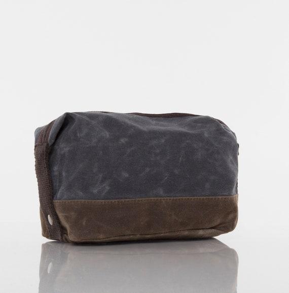 Slate Personalized Two-Tone Large Travel Kit