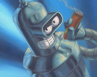 Bender from Futurama Print