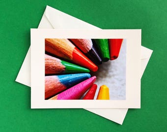 Handmade note card - greeting card - blank note card - thank you card - any occasion card