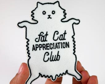 Fat Cat Appreciation Club Patch