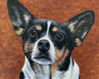 Cat and Rabbit Animal Portrait Limited time only! Dog Introduction Price Pet Portrait in Acrylic Paint