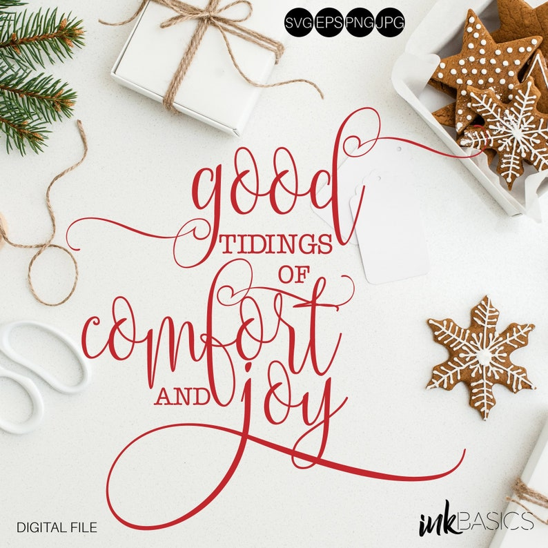 Christmas Quotes Svg.Christmas Quotes Svg Christmas Svg Good Tidings Of Comfort And Joy Svg Quotes Sayings Merry Christmas Svg Svg Quotes And Sayings