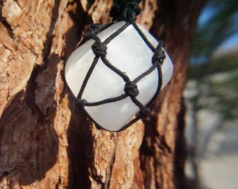 Handmade Selenite Crystal Necklace