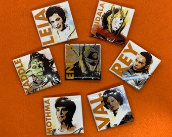 Heroes of the Saga 7 Button Set