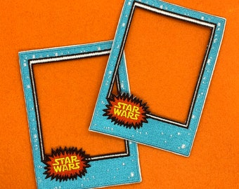 Patch Backs Framez Vintage Style Trading Card Patches