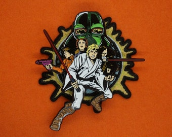 Space Fantasy Classic Comic Cover Patch and Pin Set