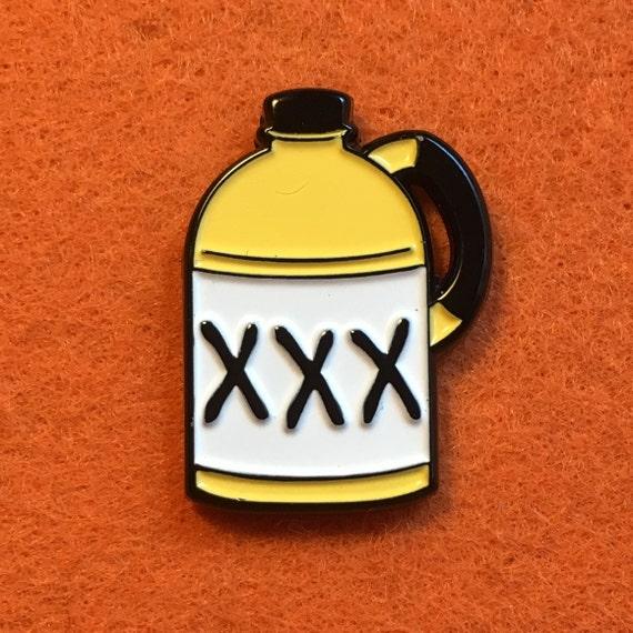 Moonshine Jug ~ Button Pinback Pin