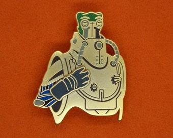 Techno Robot Motion Pin