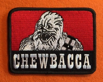 Chewbacca Iron On Patch- 100% Embroidered, Ben Davis Work Clothes Style Logo!