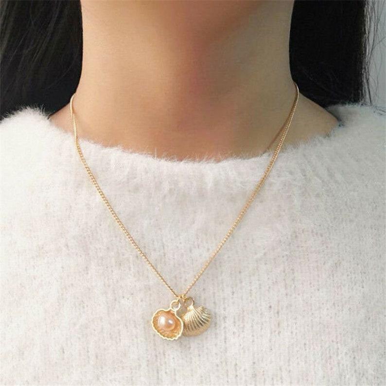 afce105641252 SAVANNAH | Cute golden Minimal necklace choker chain raindrop jewelry |  Süße goldfarbene minimalistische Halskette Collier Regentropfen