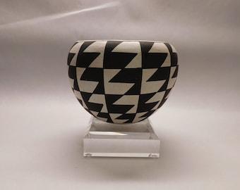 Stunning Sarah Garcia Acoma Geometric Pottery Vase