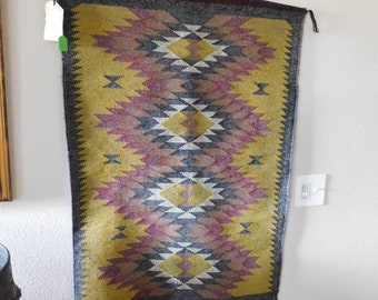 Beautiful Twill Navajo Weaving Marie Begay