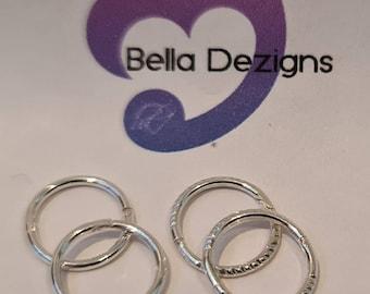 8mm Solid Sterling Silver Sleeper Earrings (MADE IN AUS)