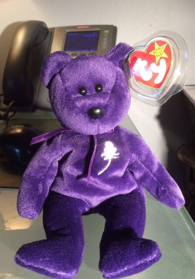 8a8b2fe3756 Princess Diana Bear ty beanie baby