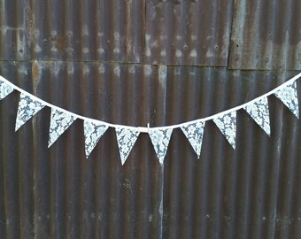 Lace bunting WHITE wedding 2mt