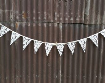 Lace bunting ivory/cream/off-white-2mt