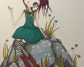 Girl under the Moon