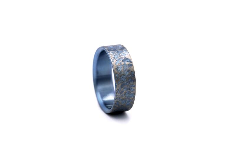 artisan titanium wedding band handmade titanium wedding ring Free engraving Artisan titanium wedding ring titanium wedding band