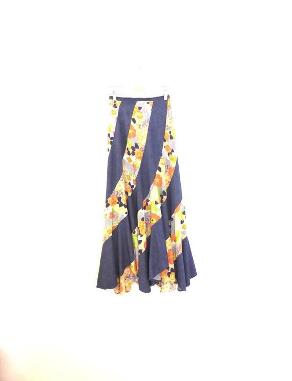 Vintage bias cut maxi skirt size XXS, beautifully