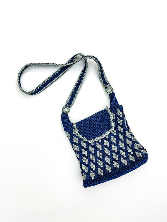 Gorgeous hand crafted crochet crossbody bag, handm