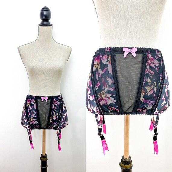 GOSSARD garter belt, floral print garter belt size