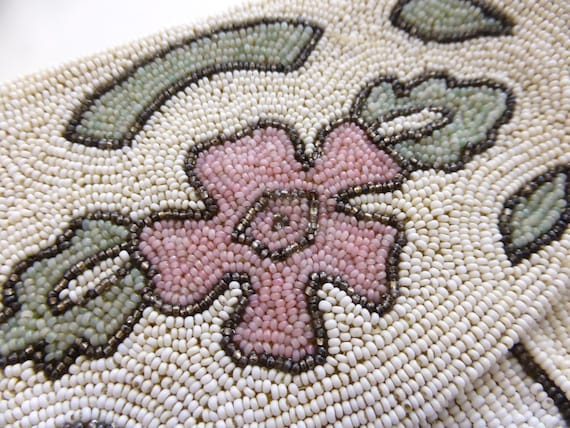 Vintage 1930s beaded evening purse, vintage beade… - image 3