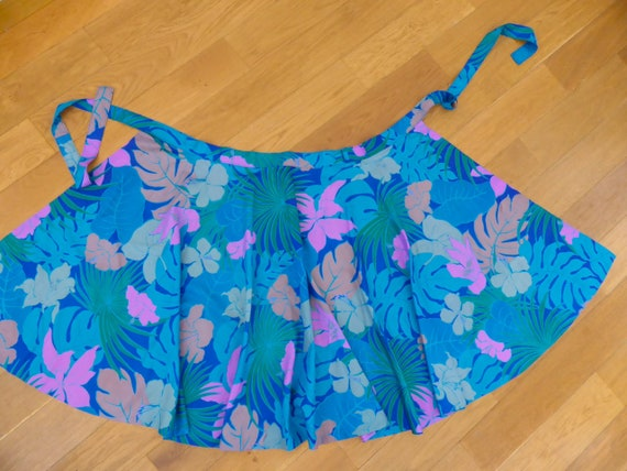 Vintage Silk Wrap Skirt, Circle Skirt, Vintage Ski