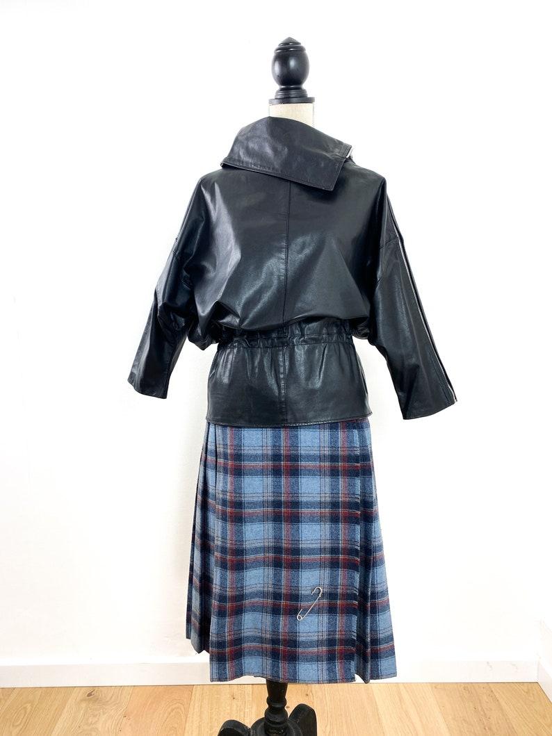 batwing jacket size XS-S leather windbreaker Vintage leather jacket