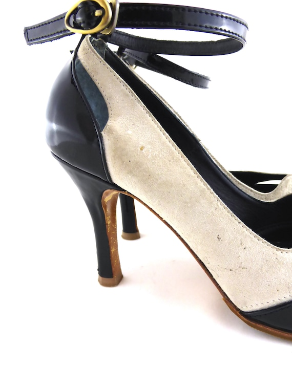 Gaspard Yurkievich Pumps, Vintage Style, Evening Shoes, Size 37 Shoes, Gaspard Yurkievich, Patent Pumps,Patent Heels,Vintage Heels Size 37,