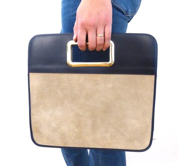 Vintage Rochas Clutch, 1960s Clutch Handbag Suede,