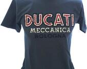 Ducati Meccanica Retro Logo Classic 80 39 s Design T-shirt Tee Grey