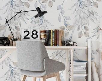 Removable wallpaper - African Protea Wallpaper - Floral Wallpaper - Self adhesive wallpaper - Watercolor wallpaper - Tropical wallpaper #17