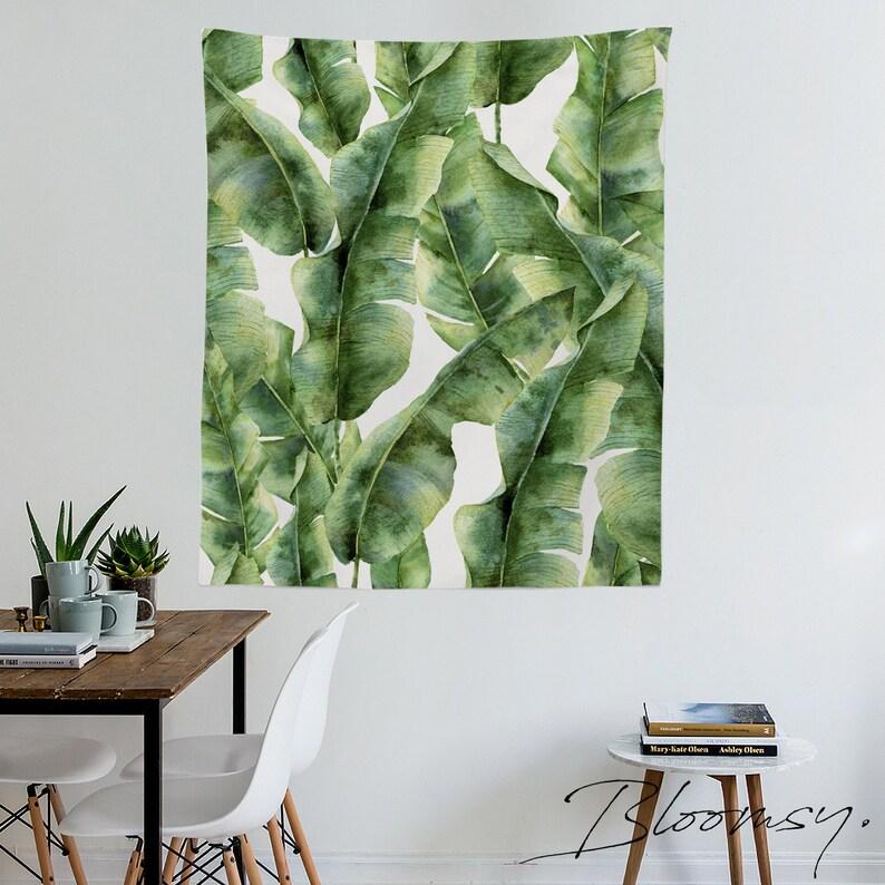 Banana Leaves Tapestry Leaf Tropic Exotic Palm Island image 0