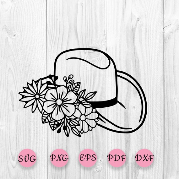 Cowboy hat with flower