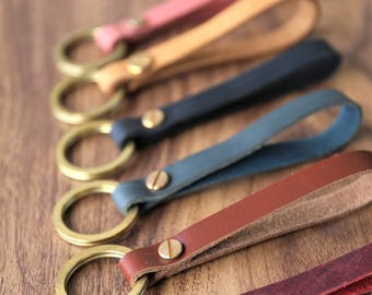 Personalized Leather Keychain/Customized Keychain/Leather Key Chain/Custom Keychain