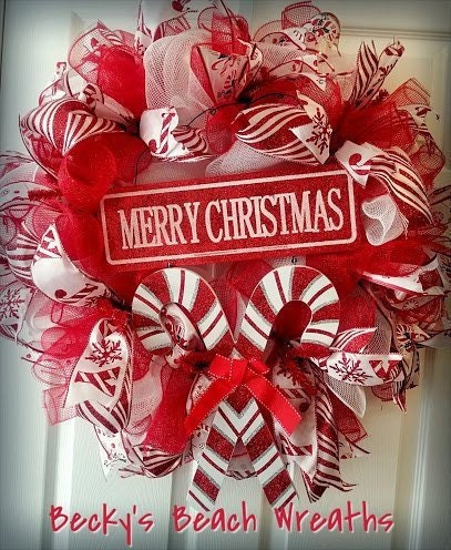 candy cane christmas wreath red and white wreath candy wreath christmas candy cane wreath