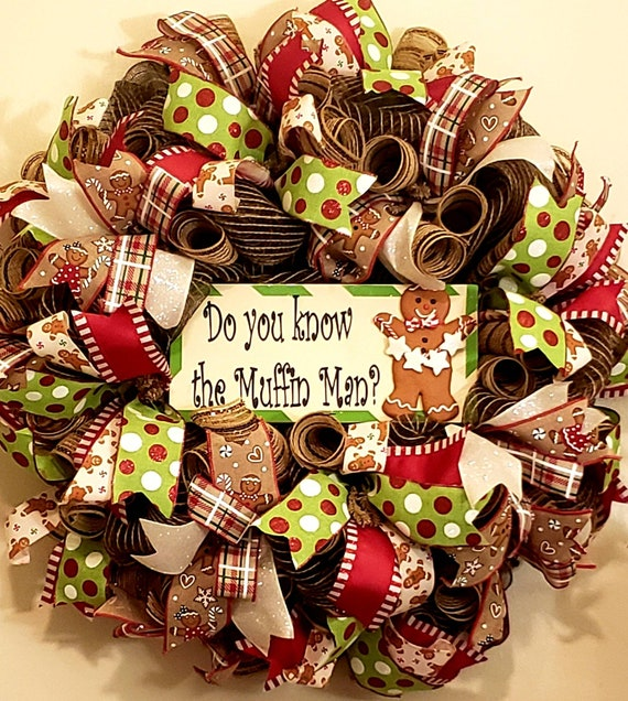 Do You Know the Muffin Man gingerbread Wreath
