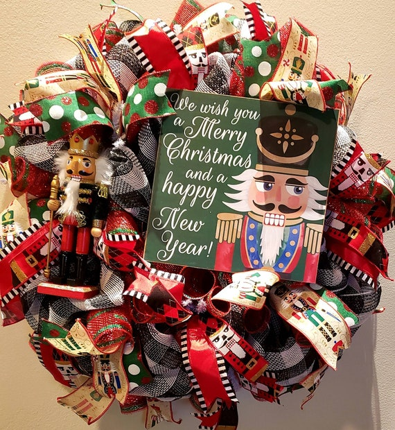 Nutcracker wreath - MADE TO ORDER