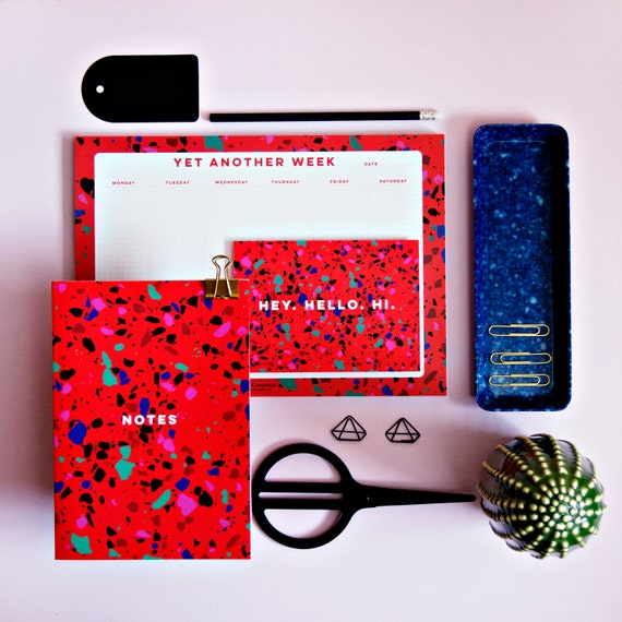 Blue Terrazzo Print 44 Page Notebook